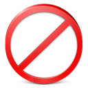 stop, Exit, cancel, quit, no, restricted, sign out, logout Black icon
