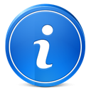 Information, about, Info RoyalBlue icon