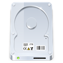 save, Disk, Hard, disc, hard disk, default, drive Gainsboro icon