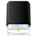 hard disk, drive Black icon