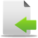 document, Import, Move, Arrow, File, paper Gainsboro icon