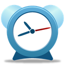 Clock, time, alarm clock, Alarm, history SteelBlue icon
