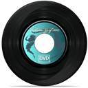 disc, music, record, Dvd Black icon