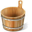 Bucket, vide, Corbeille Black icon