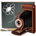 picture, teach, school, Black board, teaching, photography, Camera, learn, photo, old, image, education, pic, my picture DarkSlateGray icon