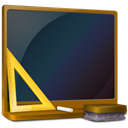 Ordinateur, teach, Black board, learn, education, school, off, teaching DarkSlateGray icon