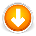 download, descending, Decrease, Descend, Down, Orange, fall, Arrow LightGray icon