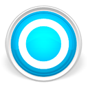 Blue, round, Circle LightGray icon