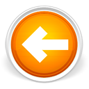Orange, Left, previous, Arrow, Backward, Back, prev LightGray icon