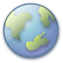 planet, earth, world, globe MidnightBlue icon