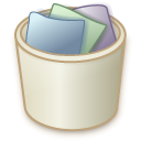 Trash, recycle bin, Full RosyBrown icon