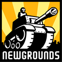 newgrounds Black icon
