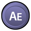 After, adobe, Cs, effects, Badge SlateGray icon