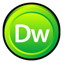 Cs, dreamweaver, adobe, Badge LimeGreen icon
