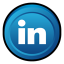 In, linked, Linkedin, Badge LightSeaGreen icon