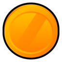 Badge, sony, vega DarkOrange icon