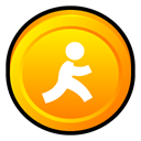 Badge, instant, Aol, Messenger Gold icon