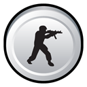 Strike, Badge, Counter Black icon