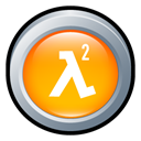 life, Badge, half Orange icon