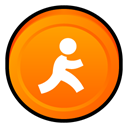 express, Aim, Badge DarkOrange icon