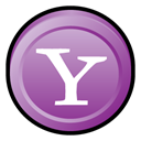 Messenger, Badge, alternate, yahoo MediumOrchid icon