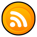 Newsfeed, Badge, subscribe, feed, Rss Orange icon