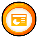powerpoint, Badge, ppt, microsoft, office Black icon