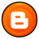 blogger, Badge OrangeRed icon