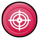 Badge, scan, Mcafee, virus IndianRed icon