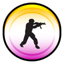 Counter, Strike, Source, Badge Black icon