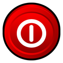 off, turn, Badge, window Red icon