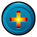 Badge, Bt, plus, Bittorrent, Add DarkCyan icon