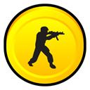 Counter, Badge, zero, Strike, Condition Gold icon