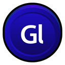 golive, Cs, Badge, adobe DarkBlue icon