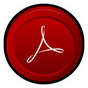 reader, Badge, Acrobat, adobe DarkRed icon