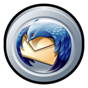 mozilla, Thunderbird, Badge Black icon