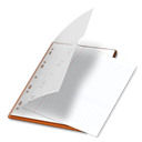 File, document, M, paper Black icon