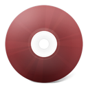 rouge, save, Disk, Cd, disc Sienna icon