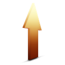 Ascending, Orange, increase, upload, rise, Ascend, Up Icon