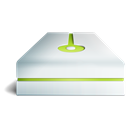 hard disk, Hdd, lime, hard drive Black icon