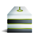 Server, eteint, vert Black icon