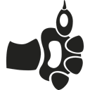 Paw, Animal, thumb up, Paws, symbol, Cat, thumbs up, Like, Animals Black icon