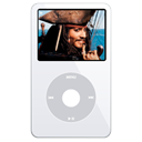 ipod, alternate, video, White Black icon