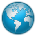 planet, world, globe, earth, Icy DarkCyan icon
