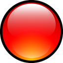 Aqua, Ball, red Red icon