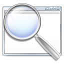 Application, Find, kappfinder, search, magnifying glass, zoom, seek Gainsboro icon