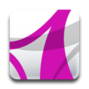 Acrobat, adobe, professional, alternate MediumVioletRed icon