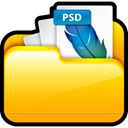 File, Ps, my adobe, document, paper, photoshop, my, adobe Gold icon