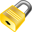 Lock, locked, security Black icon