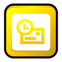 outlook, office, microsoft Gold icon